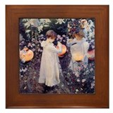 Cute John singer sargent Framed Tile
