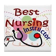 Cute Nurse instructor Tile Coaster