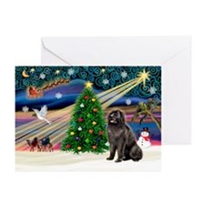 Xmas Magic/Newfie (#2) Greeting Cards (Pk of 20)