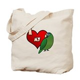 Love Half-Moon Conure Tote Bag