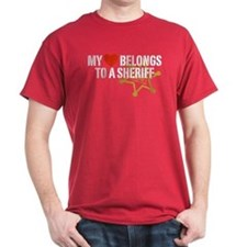 My Heart Belongs to a Sheriff T-Shirt