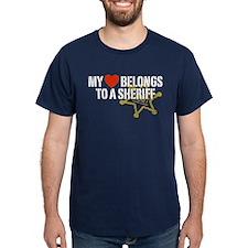 My Heart Belongs to a Sheriff T-Shirt