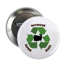 "3 Rs of dumpster diving 2.25"" Button (10 pack)"