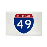 I-49 Rectangle Magnet (10 pack)