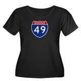 I-49 Women's Plus Size Scoop Neck Dark T-Shirt