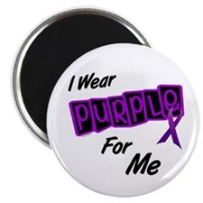 "I Wear Purple For Me 8 2.25"" Magnet (100 pack)"