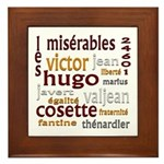 Les Miserables Framed Tile