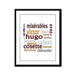 Les Miserables Framed Panel Print
