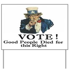Please Vote Yard Sign