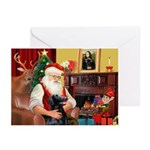 Santa's Flat Coat R Greeting Cards (Pk of 10)
