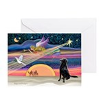 Xmas Star/FC Retriever Greeting Card