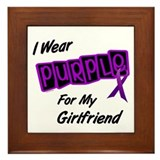 I Wear Purple For My Girlfriend 8 Framed Tile