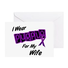 I Wear Purple For My Wife 8 Greeting Card