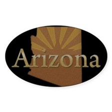 Arizona Sun Oval Sticker (10 pk)