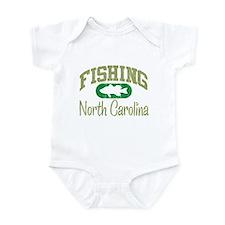 FISHING NORTH CAROLINA Infant Bodysuit