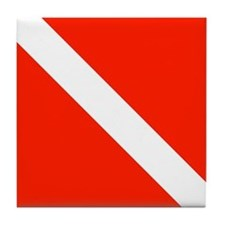 Scuba Diving Dive Flag Tile Coaster
