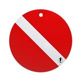 Scuba Diving Dive Flag Ornament (Round)