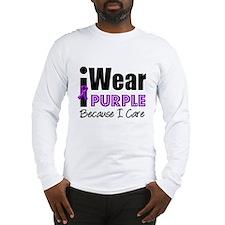 Purple Ribbon Care Long Sleeve T-Shirt