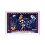 Peanut Butter & Jelly Fish Rectangle Magnet (10 pa