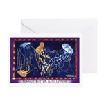 Peanut Butter & Jelly Fish Greeting Cards (Pk of 2