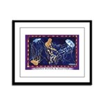 Peanut Butter & Jelly Fish Framed Panel Print