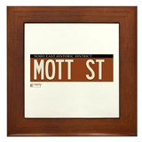 Mott Street in NY Framed Tile
