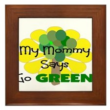 GO GREEN Framed Tile