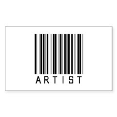 Artist Barcode Rectangle Sticker