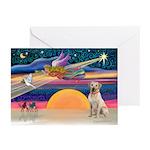 XmasStar/Yellow Lab (#7) Greeting Cards (Pk of 10)