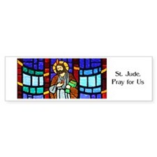St. Jude Stained Glass Bumper Car Sticker