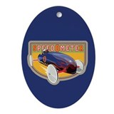 Speedometer Coaster Car Oval Ornament