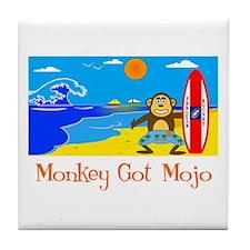 Surf Monkey Tile Coaster
