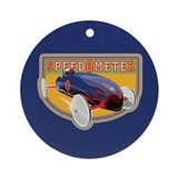 Speedometer Coaster Car Ornament (Round)