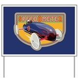 Speedometer Coaster Car Yard Sign
