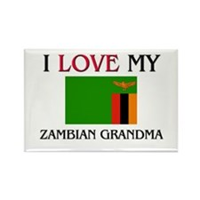 I Love My Zambian Grandma Rectangle Magnet