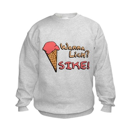 Wanna Lick? Kids Sweatshirt