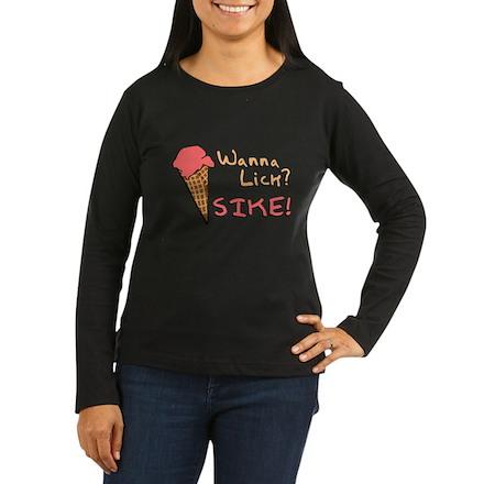 Wanna Lick? Womens Long Sleeve T-Shirt