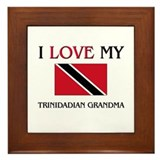I Love My Trinidadian Grandma Framed Tile