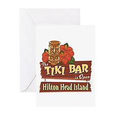Hilton Head Tiki Bar - Greeting Card