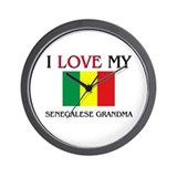 I Love My Senegalese Grandma Wall Clock