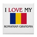 I Love My Romanian Grandma Tile Coaster