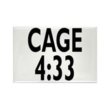 John Cage 4:33 Rectangle Magnet