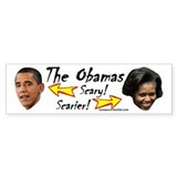 """Obamas Are Scary"" Bumper Bumper Sticker"