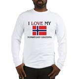 I Love My Norwegian Grandma Long Sleeve T-Shirt