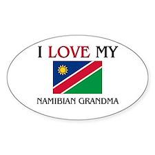 I Love My Namibian Grandma Oval Decal