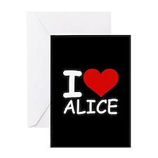 I LOVE ALICE (blk) Greeting Card