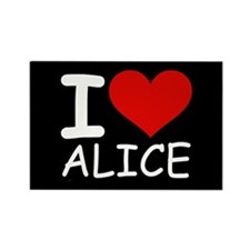I LOVE ALICE (blk) Rectangle Magnet (10 pack)