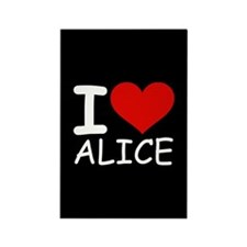 I LOVE ALICE (blk) Rectangle Magnet (100 pack)