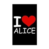 I LOVE ALICE (blk) Rectangle Sticker 10 pk)