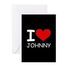 I LOVE JOHNNY Greeting Cards (Pk of 20)